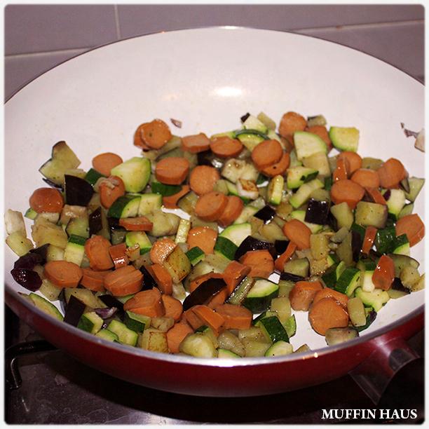 muffin vegetariani - preparazione